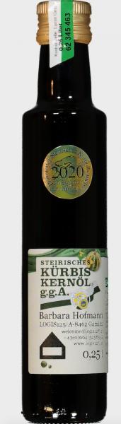 Echt steirisches Kürbiskernöl g.g.A.