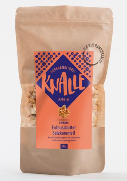 Popcorn Erdnussbutter Salzkaramell